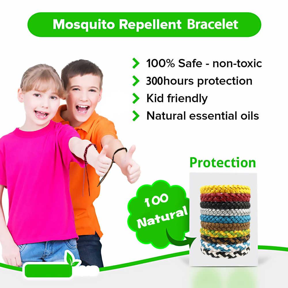 12 Pcs Eco Friendlyสายรัดข้อมือป้องกันยุงยุงไล่สร้อยข้อมือปลอดภัยสำหรับเด็กบ้านกลางแจ้งPestปฏิเสธ