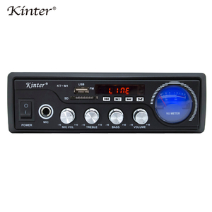 Image 5 - Kinter M1 אודיו מגבר 2.0CH עם USB SD FM מיקרופון 3.5mm קלט יכול לשחק MP3 MP4 MP5 אספקת חשמל 220 240V מתכת מארז