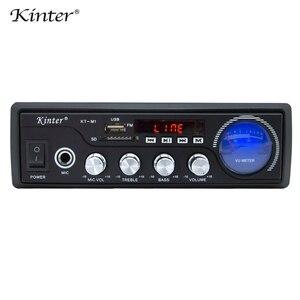 Image 5 - Kinter M1 amplificador de Audio 2.0CH con USB SD FM MIC 3,5mm entrada puede reproducir MP3 MP4 MP5 fuente de alimentación 220 240V carcasa de metal