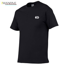 Summer New Creative printed Etnies T Shirt Mens Black And White rendering T-shirt 100% cotton Skateboard Tee Boy Skate Tshirt