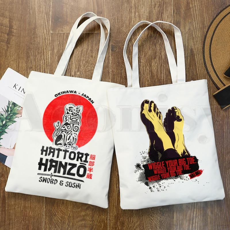 Töten Bill Ninja Hattori Hanzo Grafik Cartoon Print Einkaufstaschen Mädchen Mode Casual Pacakge Hand Tasche