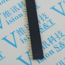 10 штырьков, 1x40 штырьков, шаг 2,54 мм, штырьковый штырь диаметром 140, 40 p, 40-штырьковый штырь для PCB arduino