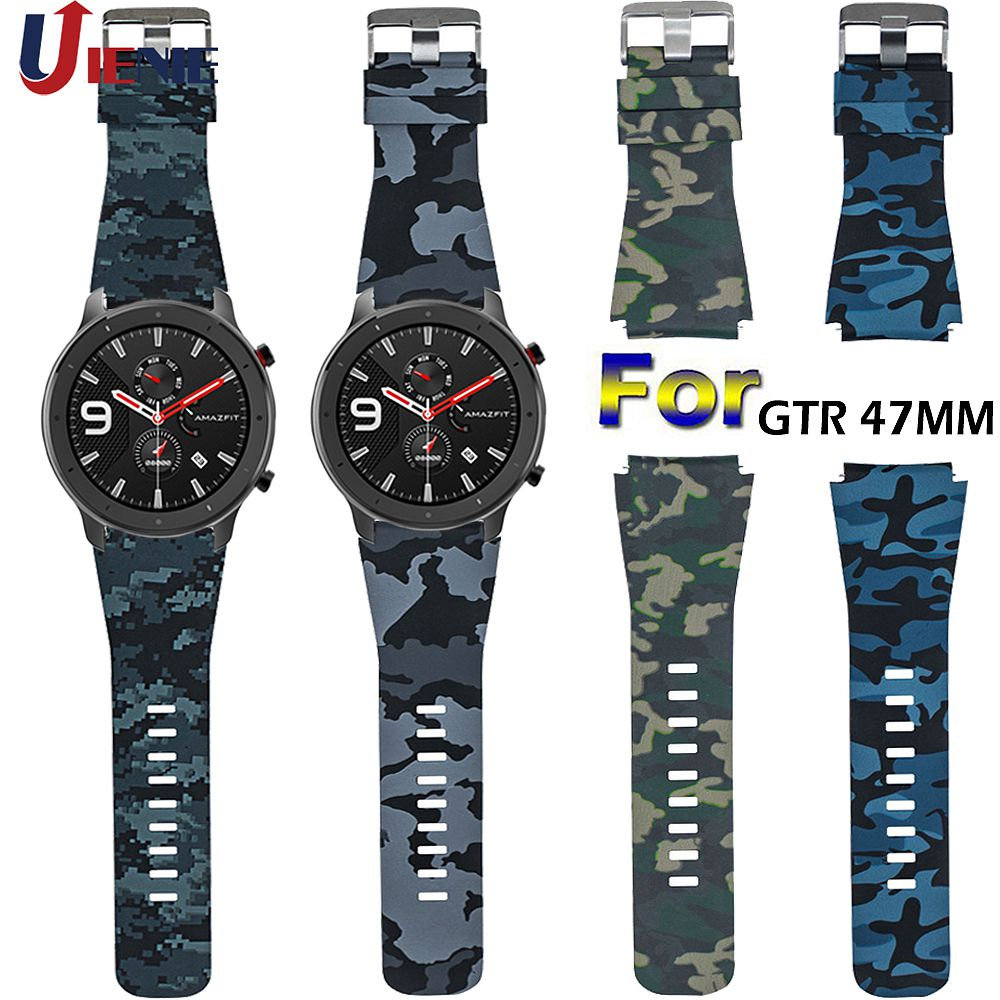 22mm Silicone Watchband Strap For Xiaomi Huami AMAZFIT Pace/GTR 47mm/Stratos 2 2S Smart Bracelet Sport Band Galaxy Watch 46mm