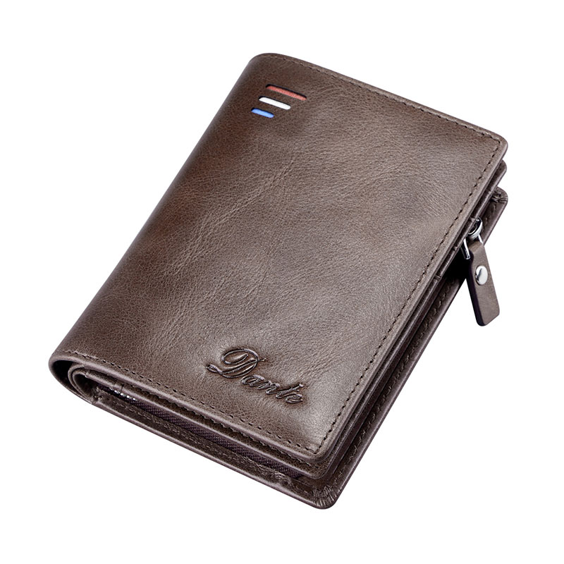 New Arrival Genuine Leather Wallet Men Coin Purse For Male Small Min Walet Card Pocket Fashion Wallets Real Skin Purse