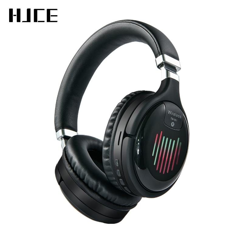 Настоящие беспроводные наушники, 3D стерео Bluetooth-гарнитура, складные Игровые наушники с микрофоном, FM, TF-карта, наушники с шумоподавлением