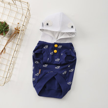 Pets Clothing Spring and Summer New Cotton Stretch Doggie Clothing Method Dou Teddy Puppy Hooded Casual Clothes Complete Size цена 2017