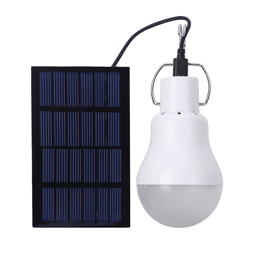 LED Solar Light Bulb Portable Garden Lamp Outdoor Waterproof Lighting For Indoor Home Camping Emergency 15W 130LM