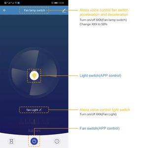 Image 5 - WiFi חכם תקרת אוהד אור קיר מתג חיים Tuya APP מרחוק שונים בקרת מהירות Interruptor תואם עבור Alexa Google בית