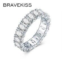 Женские обручальные кольца bravekiss роскошные с кубическим