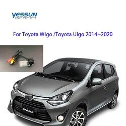 System parkowania samochodu tylna kamera dla Toyota Wigo Toyota Uigo 2014 2015 2016 2017 2018 2019 2020 CCD licencja kamera na tablicę rejestracyjną w Kamery pojazdowe od Samochody i motocykle na