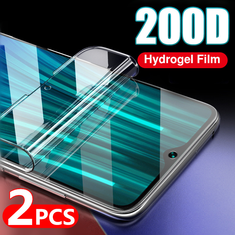 200D Curved Full Cover Hydrogel Film For Xiaomi Redmi Note 8 7 Pro 8T 9S 9 Max Soft Screen Protector On Redmi K30 Pro Glass Film(China)