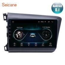 Seicane 10,1 дюймов Android 8,1 gps навигация для 2012 2013 Honda Civic Автомагнитола головное устройство плеер Поддержка TPMS DAB+ Зеркальное соединение
