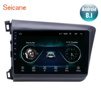 Seicane 10.1 inch Android 8.1 GPS Navigation for 2012 2013 Honda Civic Car radio Head Unit Player Support TPMS DAB+ Mirror link - DISCOUNT ITEM  42% OFF Automobiles & Motorcycles