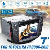 7 2 Din DVD Player 3G GPS NAV Stereo bluetooth Radio Indash Car Multimedia Player For Toyota RAV4 2006 2007 2008 2009 2010 2012