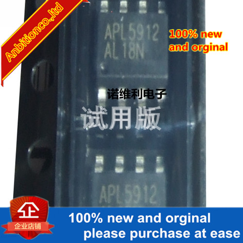 10pcs 100% New Original 1APL5912KAC-TRG APL5912 SOP8 Package Linear Regulator IC Chip In Stock
