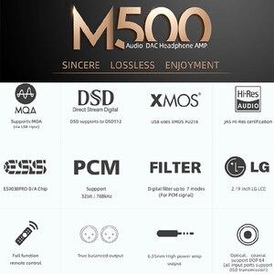 Image 2 - SMSL M500 MQA dac Headphone Amplifier ES9038 PRO AUDIO Decoding USB DAC XMOS XU216 DSD512 32Bit / 768Khz USB/OPT/COAX input