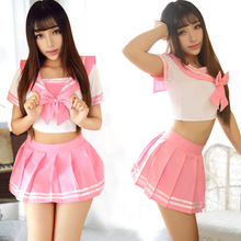 DM COS 2019 Sailor Uniform Set Bar Performance Student Pure Sexy Festival Party Stage Costume Cosplay