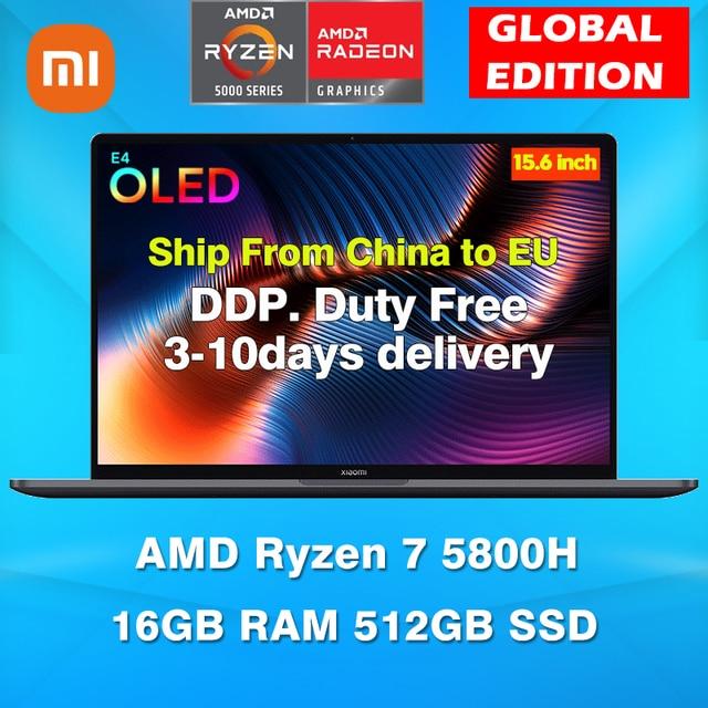 Xiaomi Mi Notebook Pro 15 2021 Ryzen Edition AMD Ryzen 7 5800H OLED Display 15.6 Inch Laptops 16GB RAM 512GB SSD Computer 1