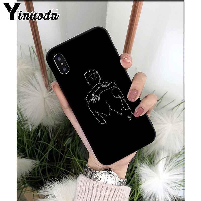Yinuoda Minimalistische stijl Twerk Het Sexy Line TPU Soft Phone Case Cover voor iPhone 8 7 6 6S Plus X XS MAX 5 5S SE XR 11 11pro max