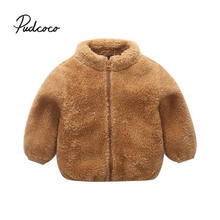 Winter Girls Faux Fur Coat 2019 New Fleece Warm Pageant Party Warm Jacket Snowsuit 0-4 Years Baby Hooded Outerwear Kids Clothes(China)