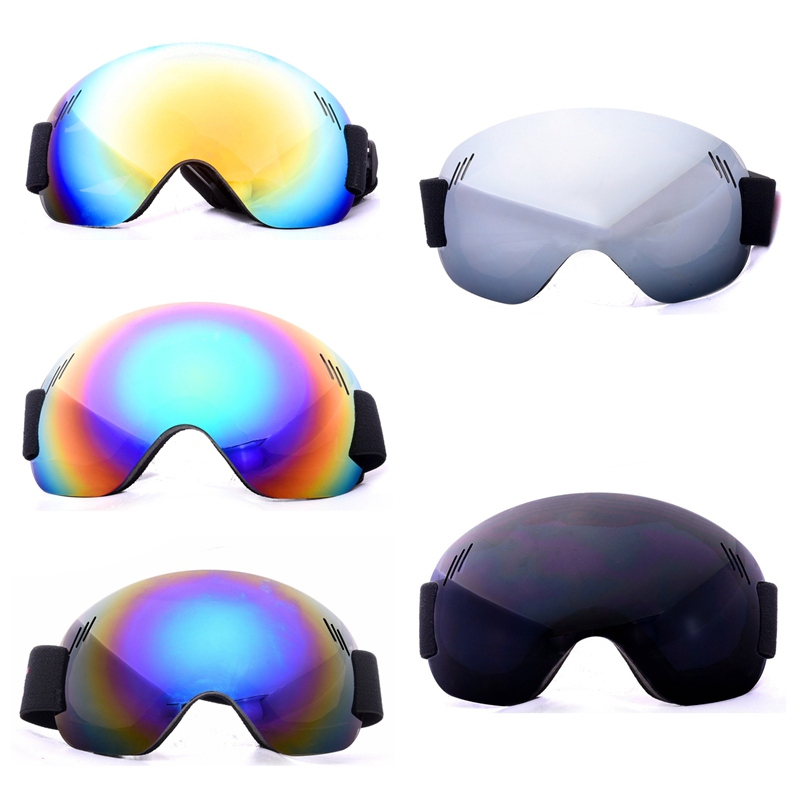 Outdoor Ski Goggles Ski Snowboard Goggles Men Women Anti-Fog UV Protection Spherical Lens Frameless Snow Sports Cycling Goggles