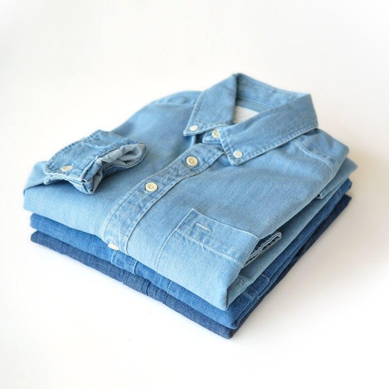 Cotton Casual Wash Shirt Mens Dress Shirts  Jeans Shirts 1