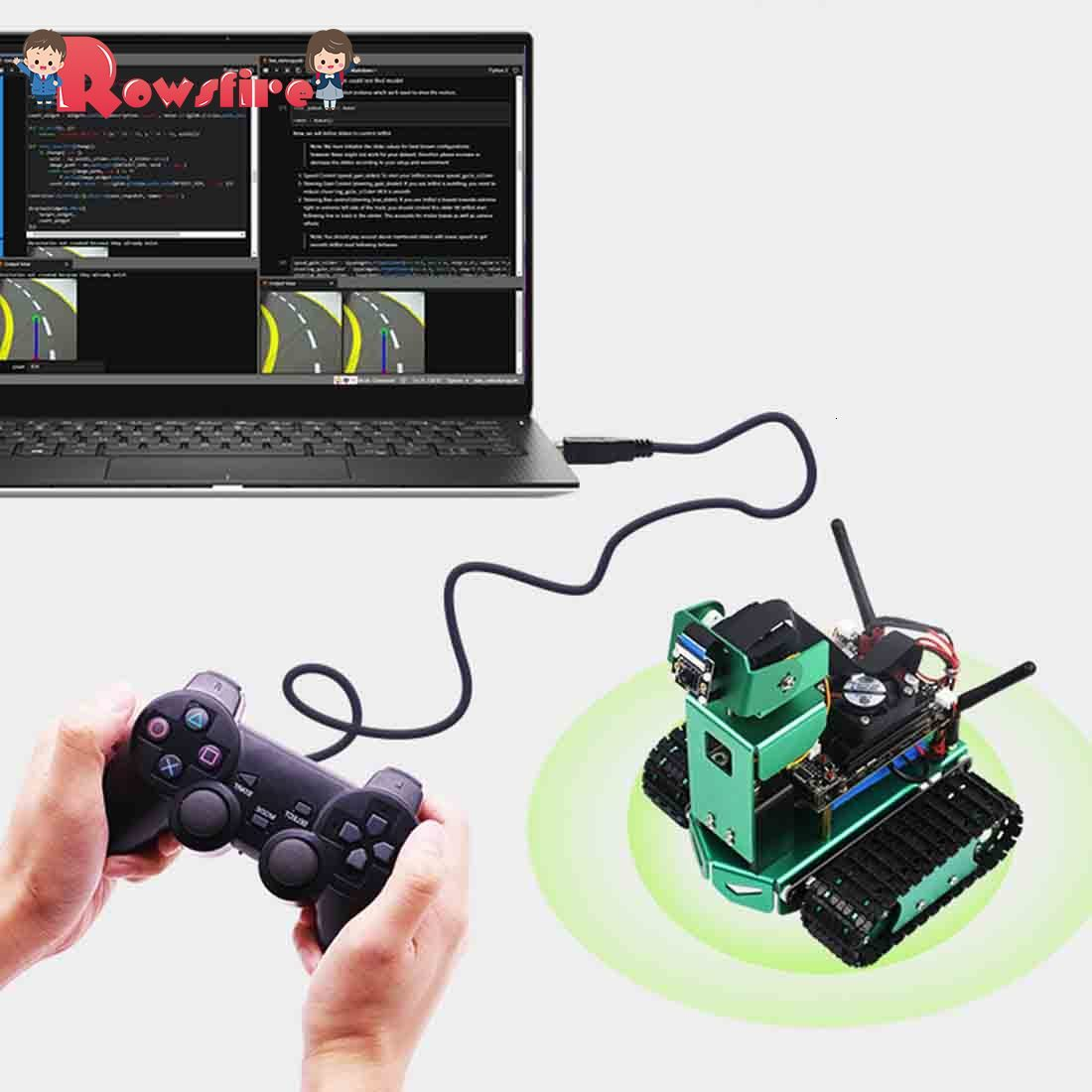 Artificial Intelligence Car DIY 2DOF Robot Car Kit For Jetson Nano (Fixed Height)(With/No With Development Board,Depend On Your)