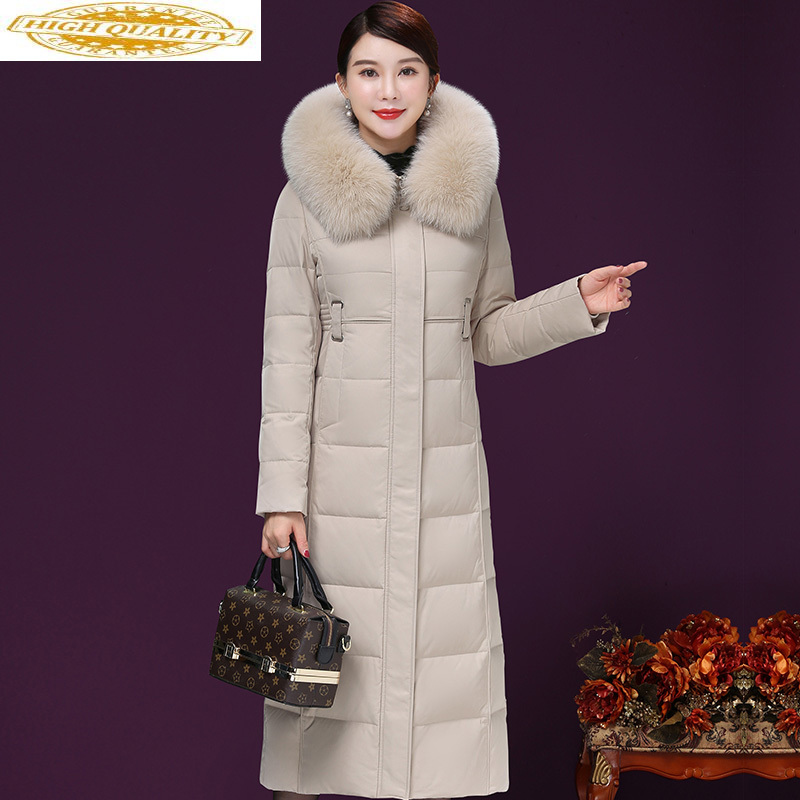 A Yunsu Long Winter World Jacket Women's Hat Fox Leggings 90% White Duck Pants Women's Winter