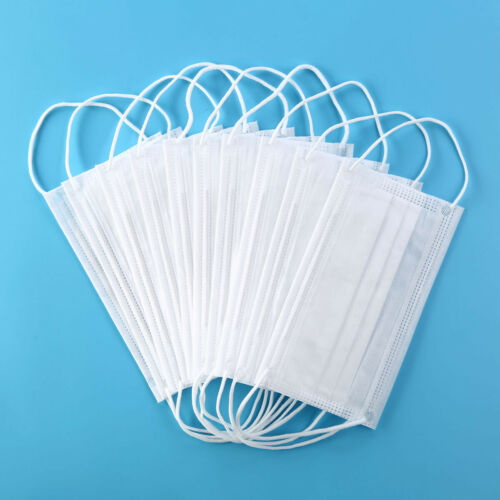50 PCS 3-Layer High Quality Disposable Mask White Mouth Face Masks Mouth Mask Non-Woven Mask Anti-Dust Masker Wholesale Earloops