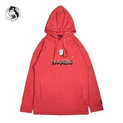 Mannen Lange mouw Hoodie wookong Merk Gedrukt Hoodies Rood Sweatshirts Heren Fleece Mode Hip Hop Hoody Heren Sweatshirt Nieuwe