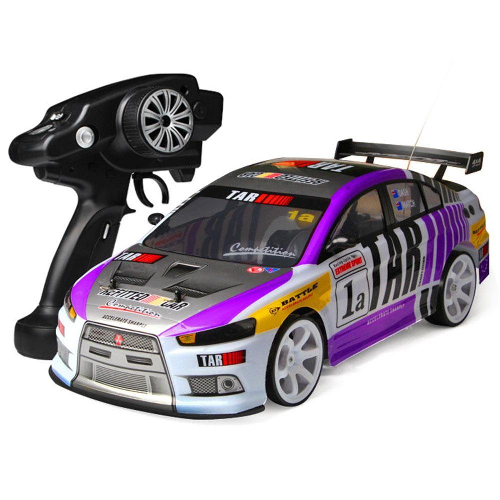 1:10 70km/h 2.4G RC Car 4WD Double Battery High Power LED Headlight Racing Truck Remote Control Stunt Car Driving RC Toy for Kid