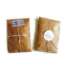цены 5 pcs/lot Creative Style Vintage Kraft Paper Envelope For Postcard Novelty Item Kids Gift Stationery