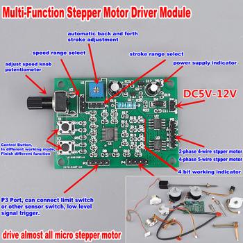 Mikro silnik krokowy kontroli płyta modułu DC 5V-12V 6V 2-fazy 4-wire 4-faza 5-drutu sterownik silnika krokowego tanie i dobre opinie NONE CN (pochodzenie) Multifunction Stepper Motor Driver