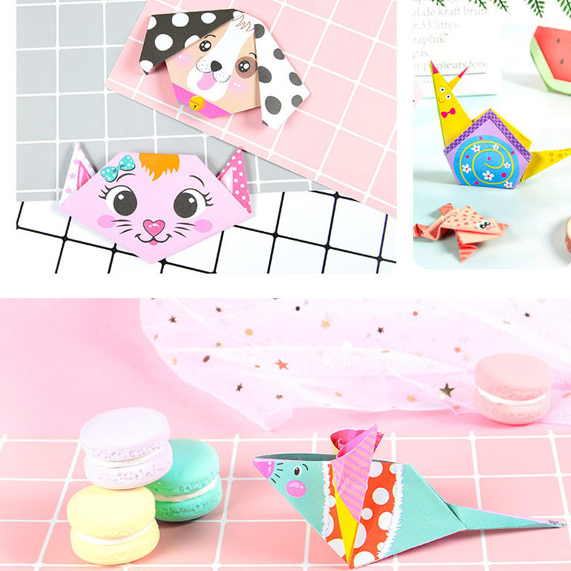 152Pcs/set DIY Educational Origami Paper Cutting Book Crafts Children Handmade Toys Kindergarten Fun Puzzle Baby Kids Toy Gifts