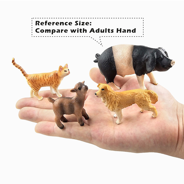 Small Pig Cat Dog Rabbit Goat Sheep Duck animal model figurines Bonsai home decor miniature fairy garden decoration accessories 5