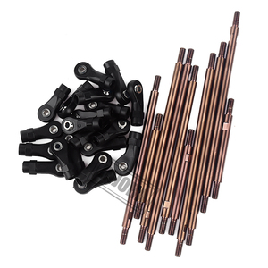 Image 5 - INJORA 10Pcs/Set Metal Unassembled Link Set Plastic Rod End for 1/10 RC Crawler 324mm Wheelbase Traxxas TRX4 TRX 4