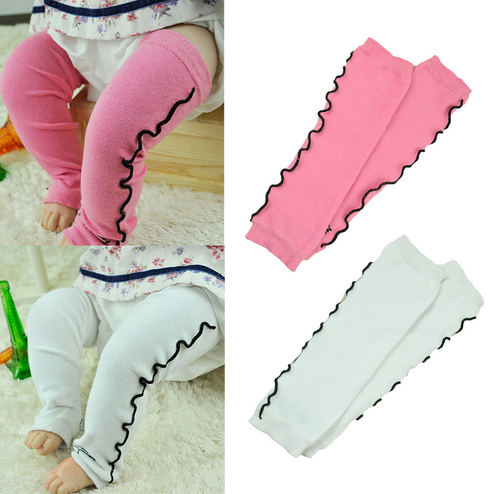 Fashion Baby Toddler Child Girl Pink White Floral Socks Tights Arm Leg Warmers WATXW0024