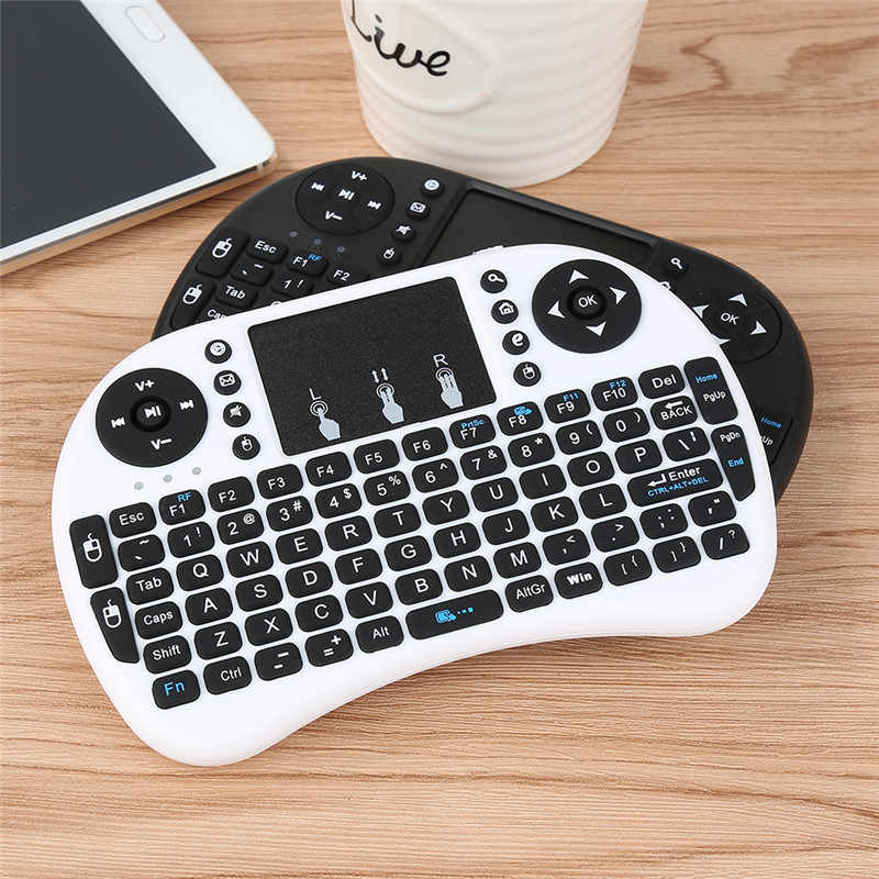 Keyboard Portabel 2.4G Mini Keyboard Handheld Sensitif Tinggi Smart Touchpad Keyboard Udara Mouse untuk Android Smart TV Set- top Box