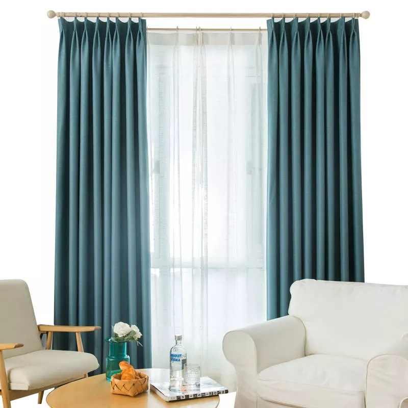 Colore puro tenda di finestra blackout ispessito cotone lino ombreggiatura cutains per soggiorno camera da letto di lusso tende courtain