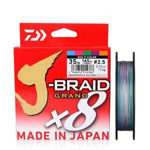 Image 3 - DAIWA Neue Original J BRAID GRAND Geflochtene Angelschnur PE Linie 135M 150M 8 Strands Angeln monofilament 10 60lb Gemacht in Japan