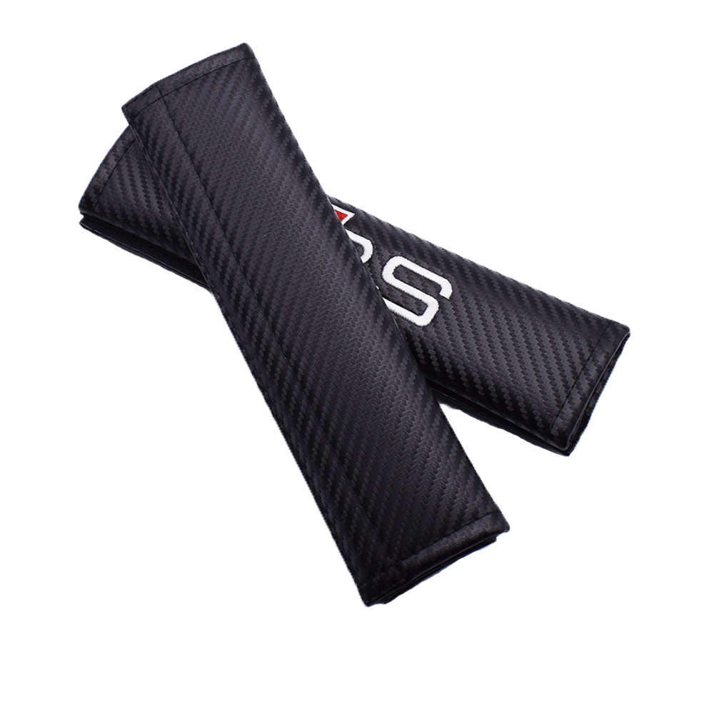 1Pair Car Comfortable Driving Seat Belt Vehicle Shoulder Pad Cover For Audi A3 8V 8p A4 B7 B8 B9 A6 C7 A5 A6 C6 Q5 8R Q2 Q7 image