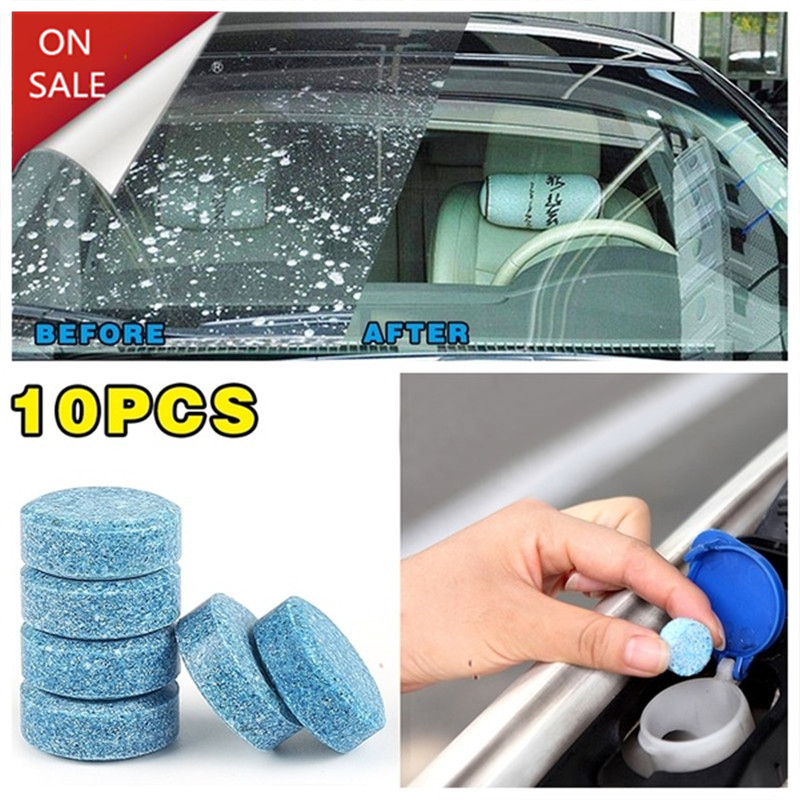 10PCS Car Solid Wiper Car Wash Fine Seminoma Wiper Auto Window Cleaning Car Windshield Glass Cleaner Car Accessories