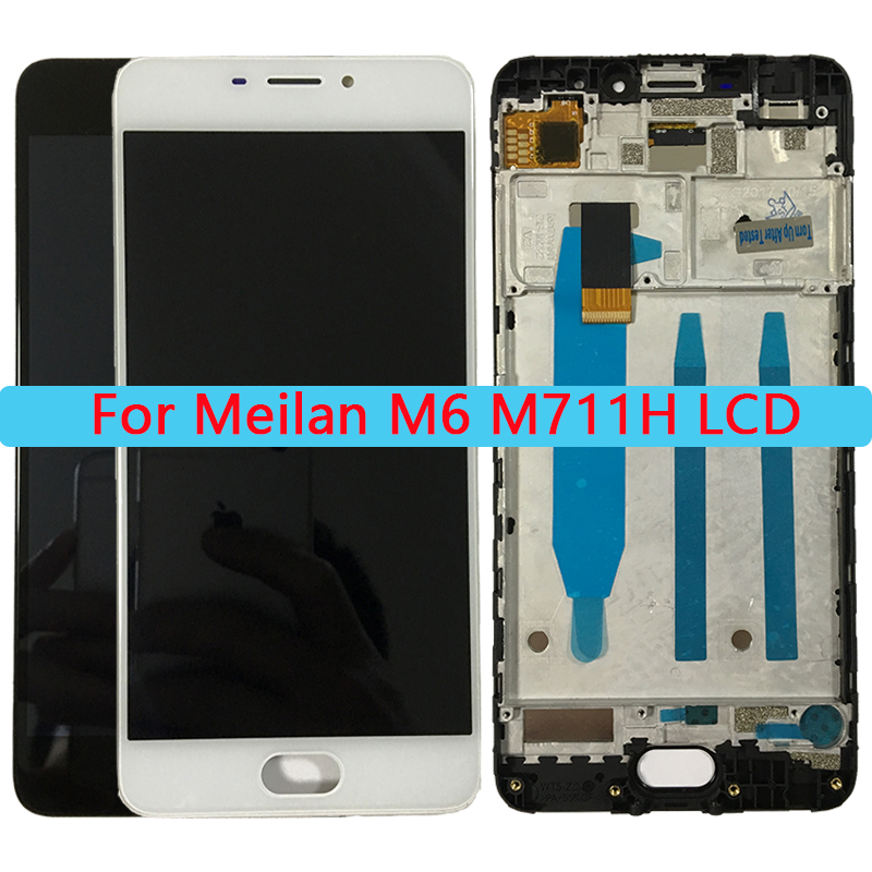 100% Tested 5.2'' M6 LCD For MEIZU M6 LCD Display Touch Screen With Frame Assembly For Meilan M6 M711H Repair Parts.