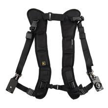 цена на DishyKooker Double Dual Camera Shoulder Strap Quick Rapid Sling Camera Belt Adjustment for Canon for Cameras Digital DSLR Strap
