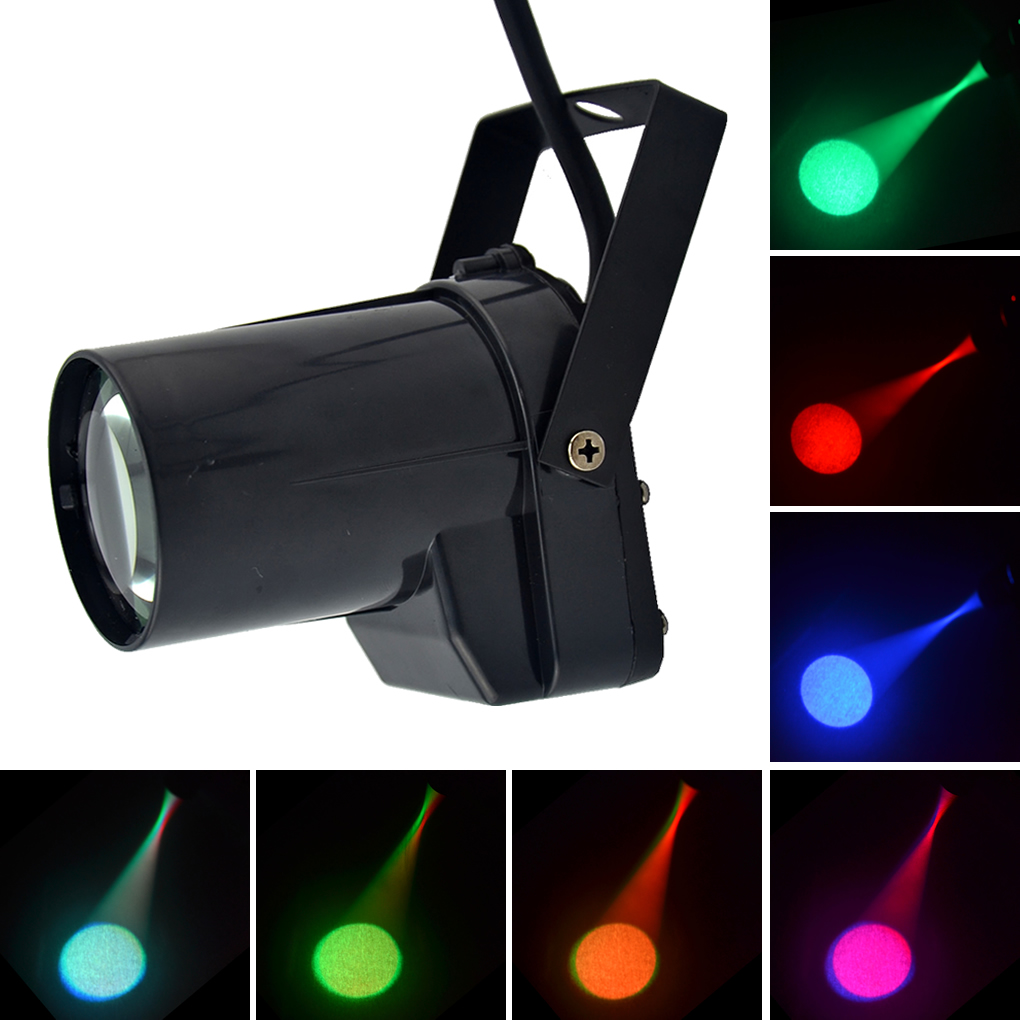 AUCD Mini Portable 5W RGB Colorful LED Spotlights Disco Mirror Ball Spotlight KTV DJ Party Show Beam Projector Stage Lights LEM1