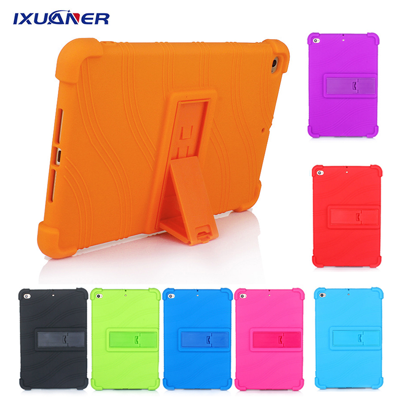 Fashion Kids Shockproof Case For IPad Mini 3 2 1 Case Silicone Soft Back With Kickstand Stand Cover For IPad Mini 2 3 Case Funda