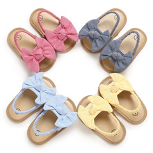 Summer Baby Girls Bow Knot Sandals 0 1 Year Old Baby Toddler Shoes Soft soled Kawai Princess Shoes Infant Non Slip First Walkers