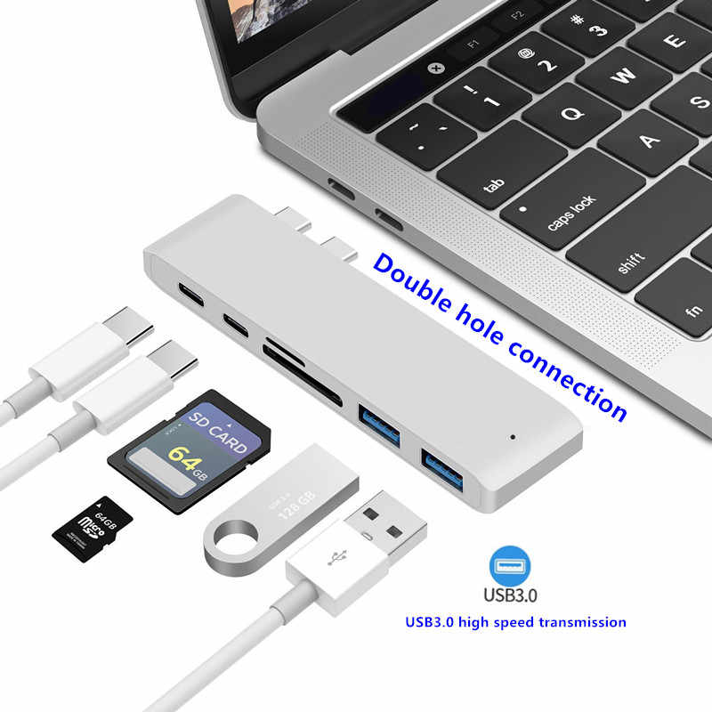 Hub pour Smartphones Type C USB 3.0 multi-interface type-c PD haute vitesse de charge pour adaptateur MacBook Pro Air Huawei P20 Pro