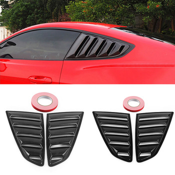 2 PCS Car Side ABS Deflector Vent Window Louver Scoop Cover Trim Sticker Fit For Ford Mustang 2015 2016 2017 2018 - discount item  20% OFF Auto Replacement Parts