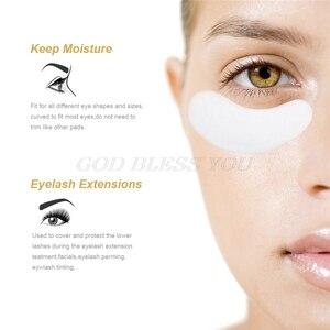 Image 4 - 200/500 Pairs Eyelashes Paper Patches Under Eye Pads Eyelash Extension Hydrating Eye Tips Sticker Wraps Lint Free Make Up Tools